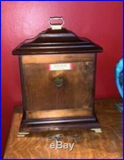 Howard Miller Vintage Mantle Clock Chime Westminster With Key Wind Up