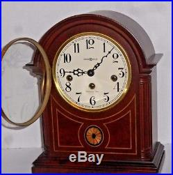 Howard Miller Westminster Chime 8 Day Barrister Clock 613-180 Clean & Working