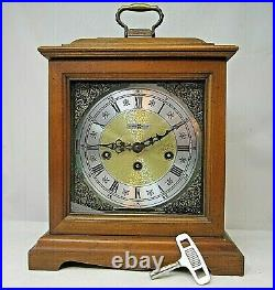 Howard Miller Westminster Chime Mantle Clock 612437 No 141 Key Tested W Germany