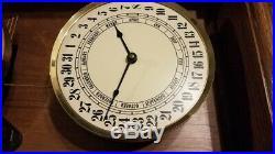 Howard miller wall clock westminster chimes calendar dial with both keys