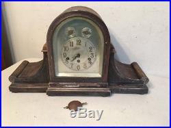 Huge Antique Junghans Westminster Chime Tambour Bracket Mantle Clock Project