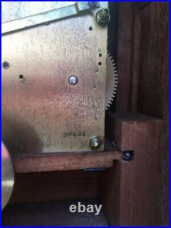 Impressive Antique Oak Cased Westminster Chime 5 Gong Bracket Clock Working