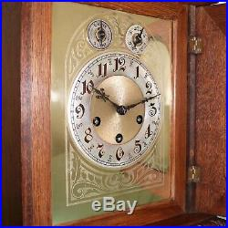 JUNGHANS Antique Mantel TOP Clock Mantel WESTMINSTER Chime 1910 RESTORED Germany