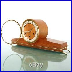 JUNGHANS GERMAN Mantel Clock SUPER RARE! WESTMINSTER Chime! Mid Century Vintage