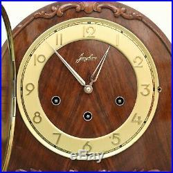 JUNGHANS GERMAN Mantel Clock Westminster LOUDSPEAKER! Chime High Gloss Vintage
