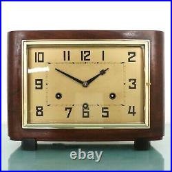 JUNGHANS Mantel Antique Clock WESTMINSTER! Chime! Bauhaus RESTORED and SERVICED