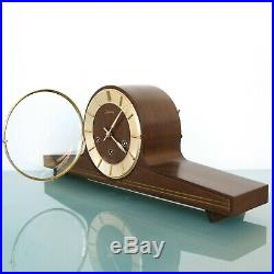 JUNGHANS Mantel Clock HIGH GLOSS! WESTMINSTER Chime! Mid Century Vintage Germany