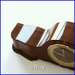 JUNGHANS Mantel Clock Westminster LOUDSPEAKER! Chime High Gloss Vintage Germany