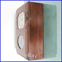 JURA Wall Clock AVE MARIA/Westminster RARE Chime ANTIQUE 10 Bars ART DECO France