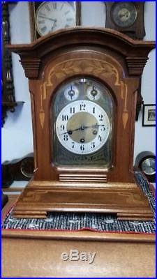 Junghans English Walnut 8 Day Westminster Chime Bracket Clock