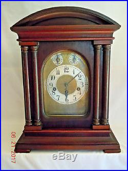Junghans Mahogany Westminster Chime Clock Imported By Kuehl Clock Co. C. 1910+/