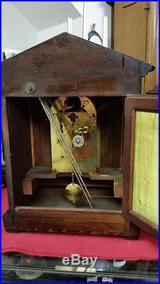 Junghans Westminster Chime Mahogany Mantel Bracket Clock