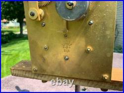 Junghans Westminster Chime Shelf Mantle Clock Retro Deco Style Runs Restore 2