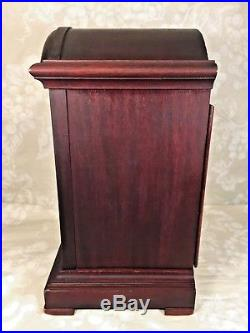 Junghans Westminster Chimes Clock Mahogany Case Westminster Chimes Runs