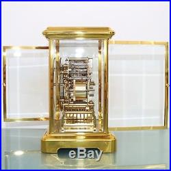 KIENINGER Mantel CLOCK TRIPLE CHIME! Translucent! Westminster GILDED! 9 JEWELS