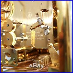 KIENINGER Mantel CLOCK TRIPLE CHIME! Translucent Westminster GILDED 9 JEWELS