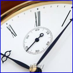 KIENINGER Wall Clock TOP RANGE! Westminster Chime Skeleton TRANSLUCENT Germany