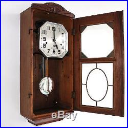 KIENZLE Wall TOP CONDITION Clock 1920s WESTMINSTER Chime Antique German RESTORED