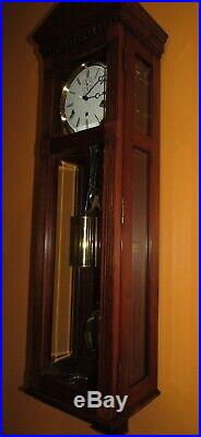 Kieninger Ethan Allen Vienna Style Cable Regulator Wall Clock Westminster Chime