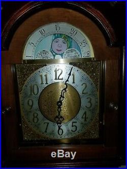 Kuempel Original Grandfather Chime Clock with Beautiful Moon Dial