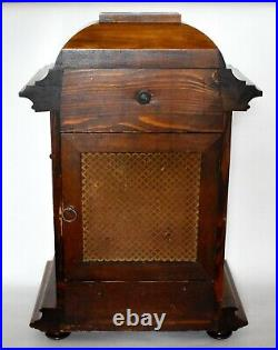LARGE ANTIQUE GERMAN WURTTEMBERG WESTMINSTER CHIME 8 DAY MANTEL CLOCK c1910