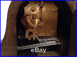 Large Antique 2 Jewel Junghans German Mantel Clock With Westminster Chimes