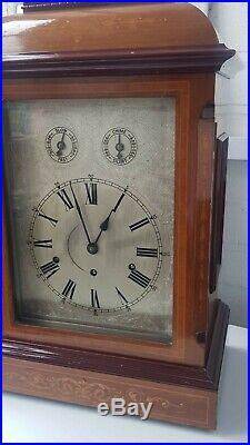 Large Antique 3 Train 5 Gongs Musical Westminster Chime Kienzle Bracket Clock