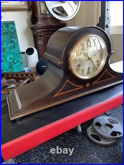 Large Antique Seth Thomas Westminster Mantel Clock- no 90 Chime Clock Model