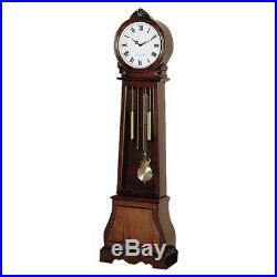 Large Grandfather Clock Floor Pendulum Chiming Brown Traditional Vintage Decor