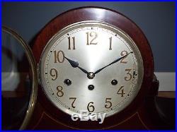Large Junghans B21 Wurttemburg Westminster Chime Mantel Clock Dark Case