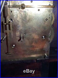 Large Kienzle style Mahogany Westminster Chimes mantle Bracket clock