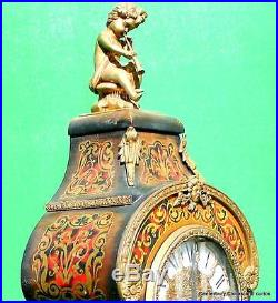 Large Vintage Ormolu Boulle Type 8 Day Westminster Chime Bracket Mantle Clock