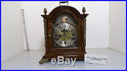 Large Walnut Warmink Westminster Chime Table Clock