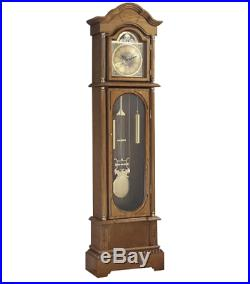 Large Wood Antique Floor Standing Grandfather Clock Moving Chime 72'' Classic