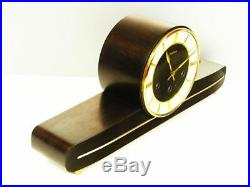 Later Art Deco Westminster Chiming Mantel Clock From Junghans Germany Of 50's