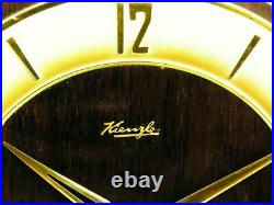 Later Art Deco Westminster Chiming Mantel Clock Kienzle Black Forest Germany