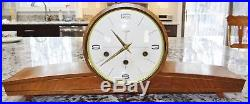 Linden MCM 8 Day Germany Humpback Mantel Clock Westminster Chime Vtg Rare RUNS