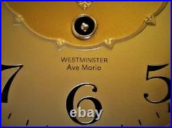 Linden Wall Clock Ave Maria & Westminster Chimes