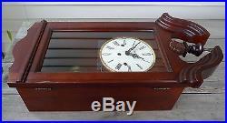 Lovely Howard Miller LANCASTER Key-Wind Wall Clock 620-132, Westminster Chimes