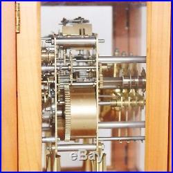 MANTEL CLOCK HERMLE DESIGN! WESTMINSTER Chime on BELLS! Skeleton TOP TRANSLUCENT