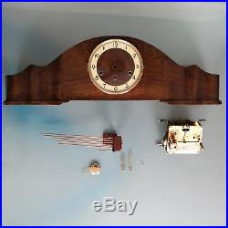 MAUTHE German Mantel Clock WESTMINSTER Chime 28.7 Inch HIGH GLOSS Vintage LARGE