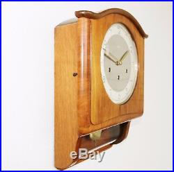 MAUTHE German WALL CLOCK WESTMINSTER Chime EXTREMELY RARE! Vintage HIGH GLOSS