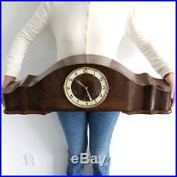 MAUTHE Mantel Clock WESTMINSTER Chime 28.7 Inch HIGH GLOSS Vintage Germany LARGE