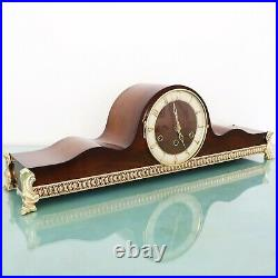 MAUTHE Mantel Top! Clock WESTMINSTER Chime! XXL Bronze! Features Vintage Germany