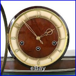 MAUTHE Mantel Vintage Clock ICONIC! 1950s WESTMINSTER! Chime HIGH GLOSS! Germany