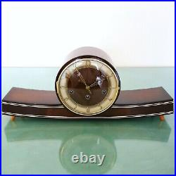 MAUTHE Mantel Vintage Clock ICONIC! 1950s WESTMINSTER Chime High Gloss! Germany