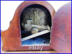 Mahogany inlaid westminster chimes mantel clock