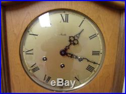 Mid-Century German Mauthe 8 Day WithIncredible Westminster Chime Wall Clock