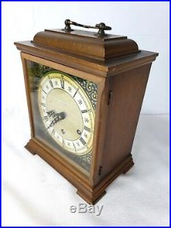 Mid-Century Junghans 8-Day Bracket Mantle Mantel Clock Westminster Chime