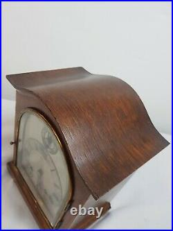 Miniature Oak Cased German Westminster Chimes 5 Gongs Bracket Clock